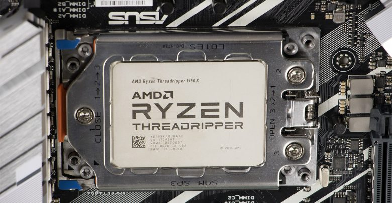 Threadripper installed in TR4 socket