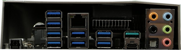 I/O ports (back)