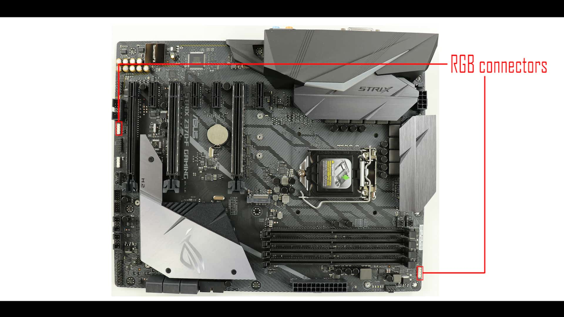 ROG STRIX Z370-F Gaming, RGB CONNECOTRS