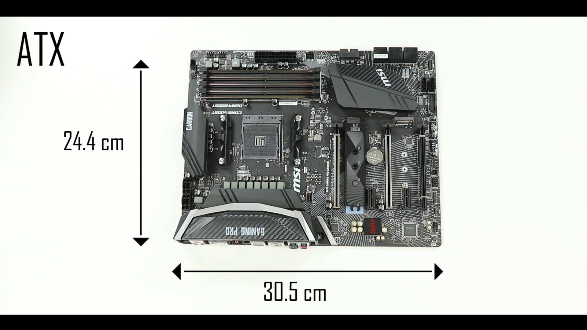 MSI X470 Gaming Pro Carbon ATX view