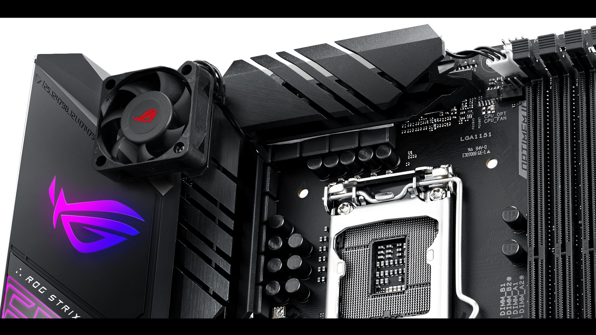 ROG STRIX Z390-E fan